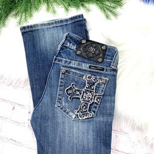 👖|•SILVER•| Bootcut Distressed Cross 26x32 👖
